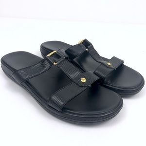 Louis Vuitton Leather Slip On Sandals